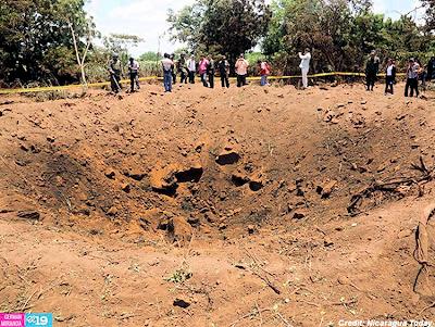 Impact Crater in Managua, Nicaragua 9-7-14