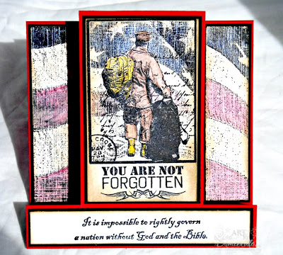 Stamps - Our Daily Bread Designs Not Forgotten, Old Flag Background, God Bless America