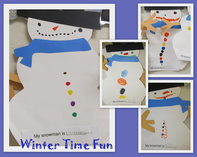 photo of: snowman art project, kindergarten snowman, snowman bulletin board