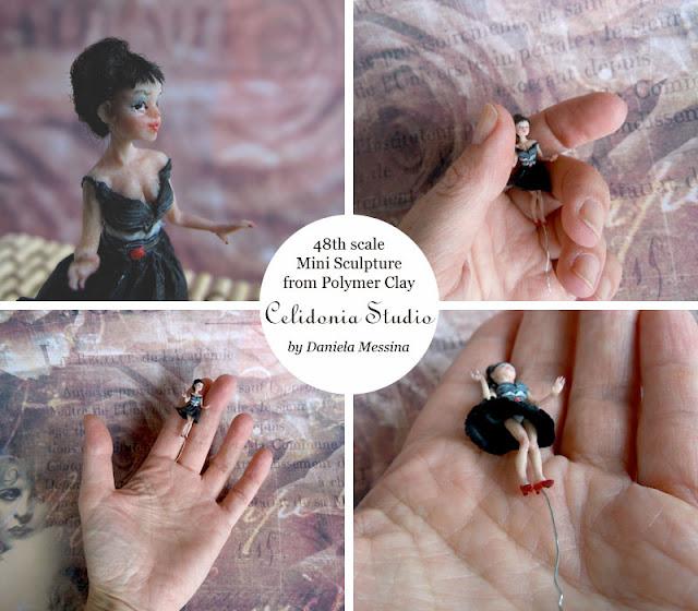 Mini Doll in Scala 1/48 - Mini Scultura by Daniela Messina - Celidonia