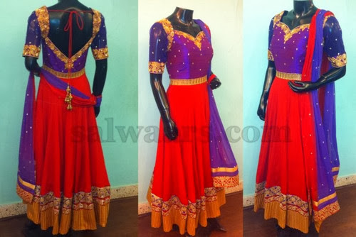 Designer Churidar by Sagar Tenali