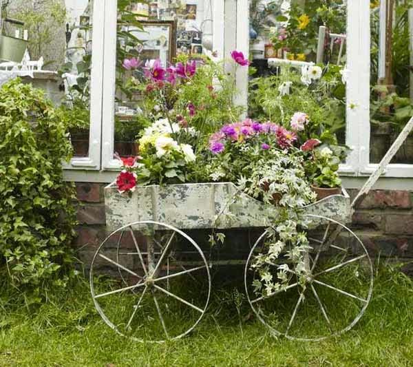 stylish vintage garden flower pots vintage style, vintage style homes