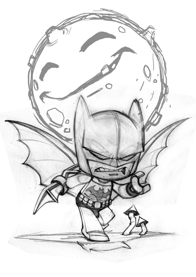 Red J  A Blog Of Art By Jon Sommariva Gully Lego Batman And More Chibi Art For My Book.