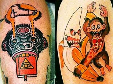 Tatuagens de animais engraçadas