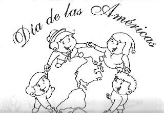 DIBUJOS DIA DE LAS AMERICAS