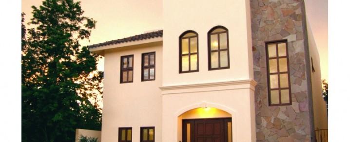 Fachadas de casas modernas fachada de casa moderna con for Fachadas de ventanas para casas modernas