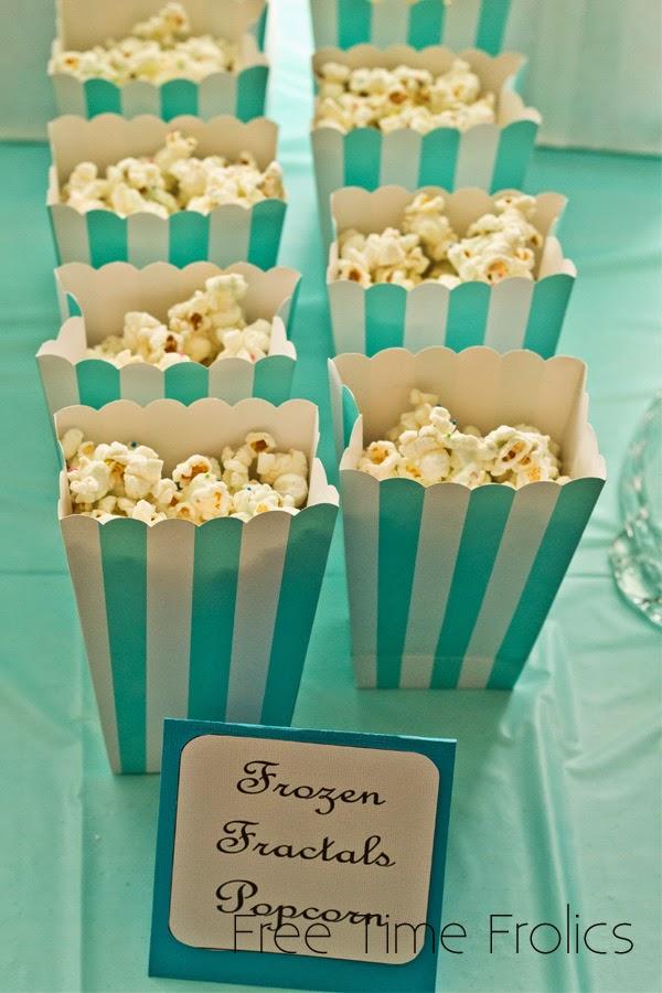Frozen Fractals popcorn www.freetimefolics.com