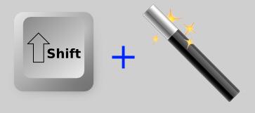 Paint.NET Varinha mágica + Tecla Shift
