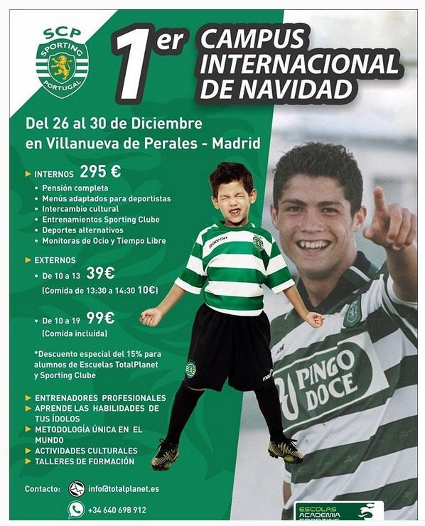 Inscrição para escola de Futebol Sporting em Madrid