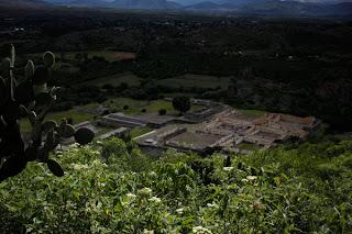 dfhoto fotos de Yagul en Oaxaka México Viajes y Turismo Cactus Visto desde Arriba las Ruinas de Yagul