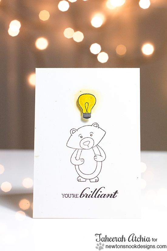 Smart Winston Bear Card by Taheerah Atchia for Newton's Nook Designs