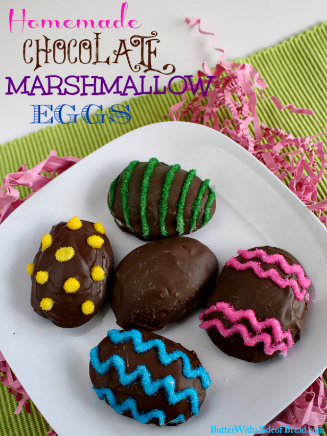 HOMEMADE CHOCOLATE MARSHMALLOW EGGS - Butter with a Side of Bread