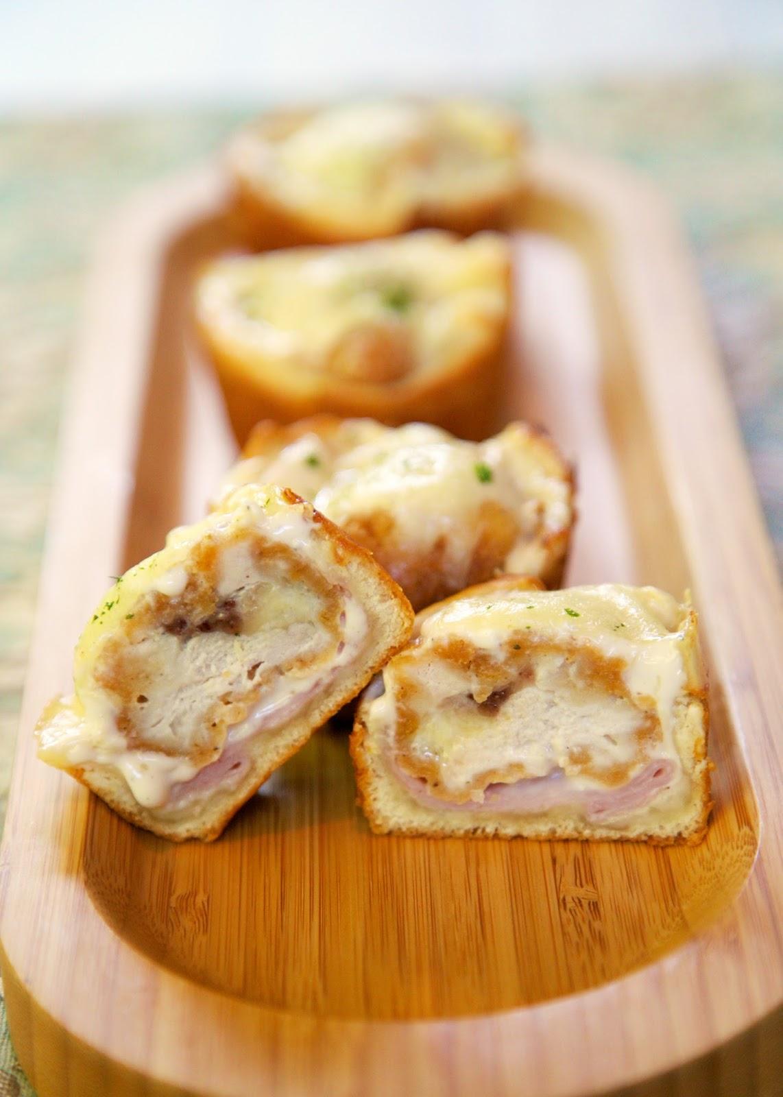 Chicken Cordon Bleu Cupcakes