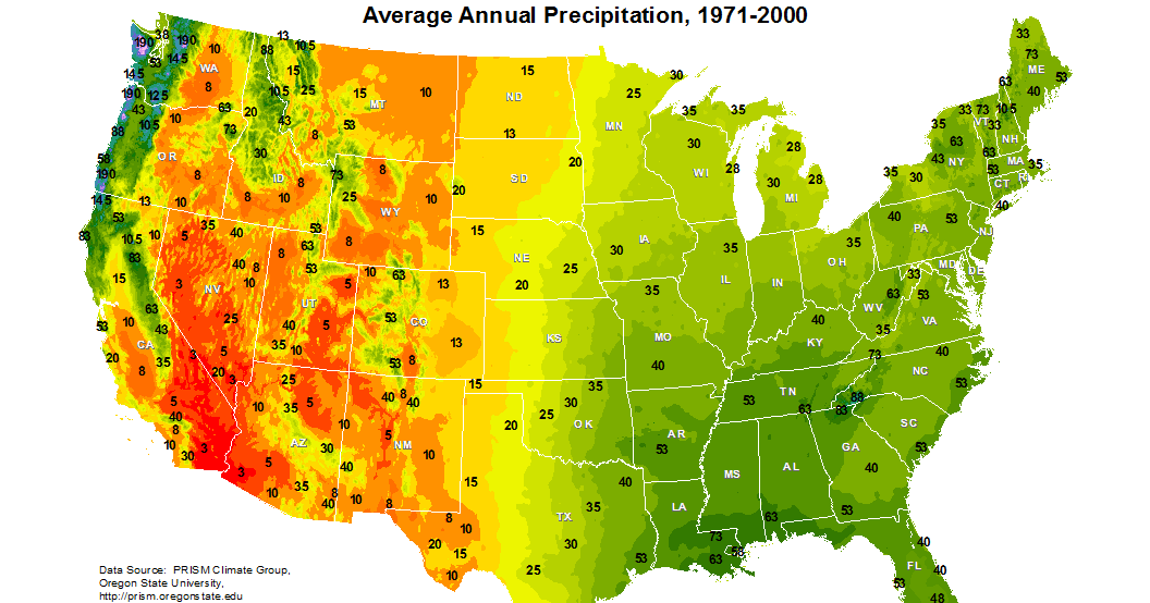 Online Maps United States Precipitation Map - United states precipitation map