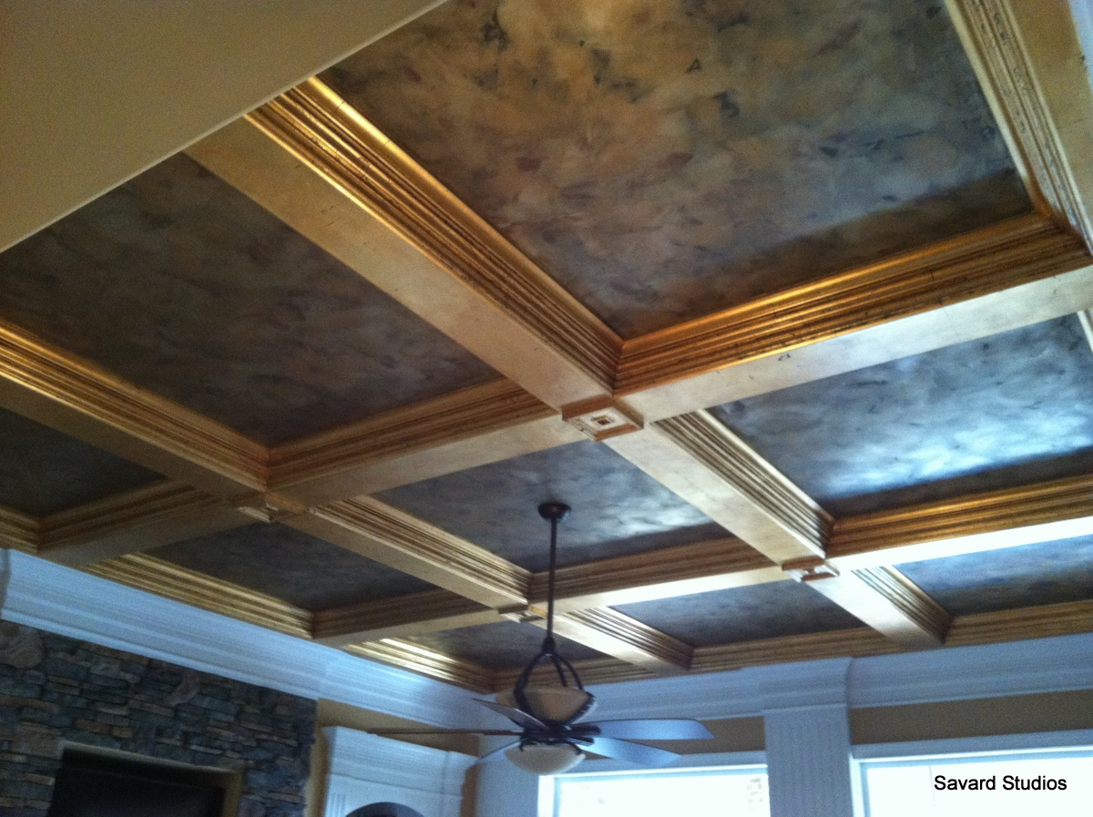Savard Studios Making Coffered Ceiling Trim Pop with Gold