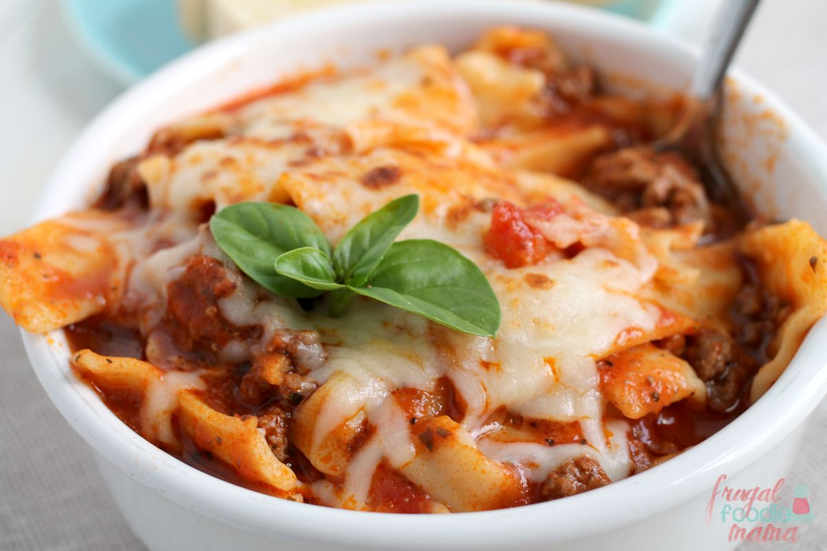 Frugal Foodie Mama: Weeknight Lasagna Soup