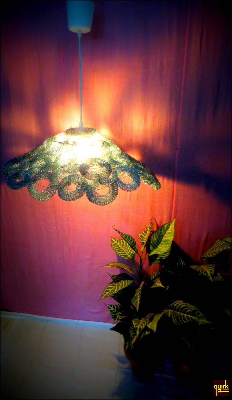 Quirk It Design_Steel Roses_lamp made of steel wool-DIY_upcycle_repurpose_Quirky_Home_Decor