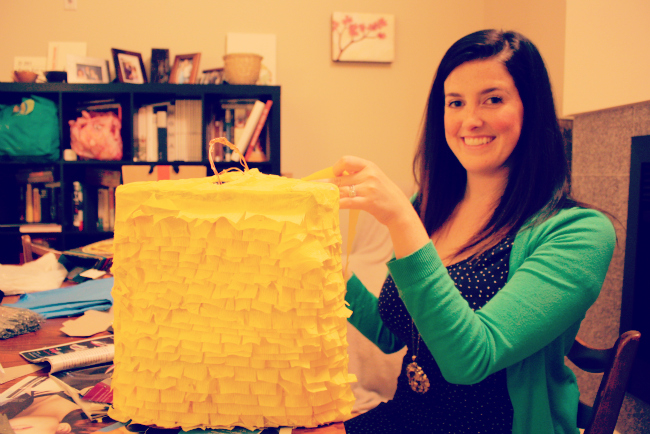 Making a DIY 30th Birthday Pinata