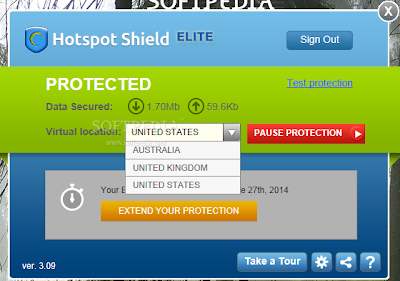 Hotspot Shield Elite 3.11 Screen Shots