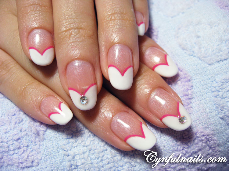 Love Heart Acrylic Nails - 2015 Best Nails Design Ideas