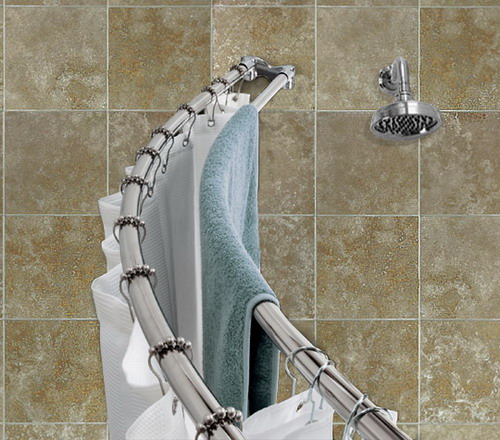 Some Tips For Curved Shower Curtain Rods Installation Instructions Home Design Gallery
