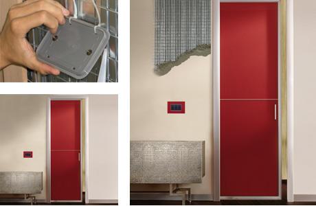 Marzua klik el interruptor de luz sin cables de krona para puertas correderas ocultas - Puertas correderas ocultas ...