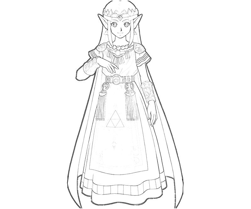 Princess Zelda Coloring Pages : Princess zelda sword jozztweet