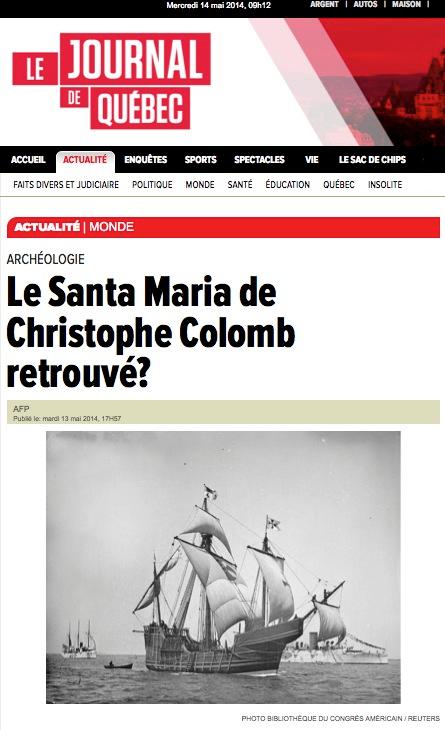 http://www.journaldequebec.com/2014/05/13/le-santa-maria-de-christophe-colomb-retrouve