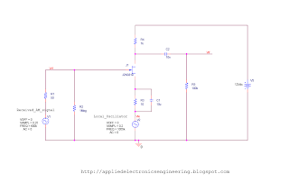 Schematics of Signal mixing using JFET in AM Receiver