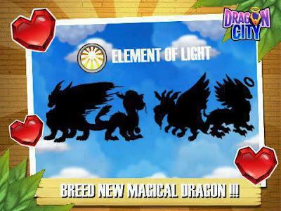 imagen de los nuevos dragones del elemento luz de dragon city
