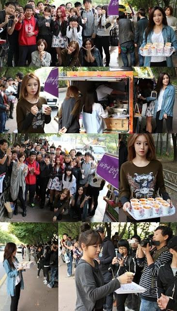T-ara, Dışarıda Bekleyen Fanlarına Yiyecek Dağıttı! /// 13 Ekim 2013