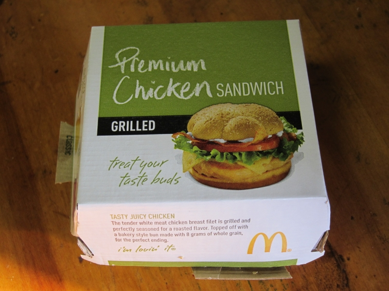 Review mcdonald 39 s new premium grilled chicken classic for Mcdonald s fish sandwich nutrition