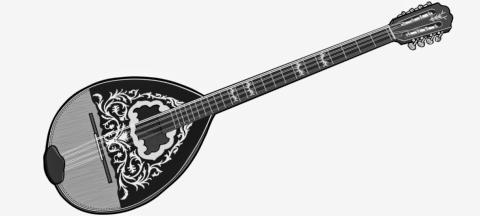 Greek musical instrument : Bouzouki