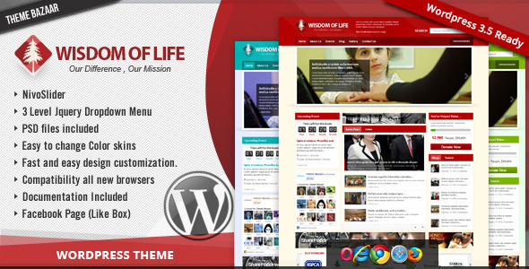 ThemeForest - Wisdom Of Life: NGO and Charity Theme