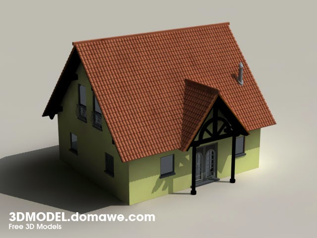 Simple house free 3d model for Minimalist house 3d max