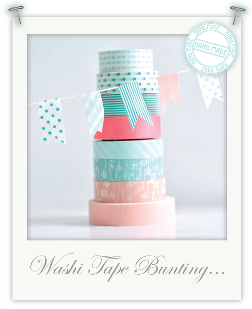 Washi tape bunting by Torie Jayne