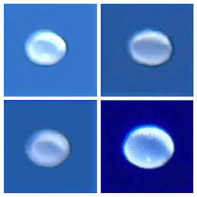 White Disc UFO Caught Hovering Over Colorado 2015, UFO Sightings