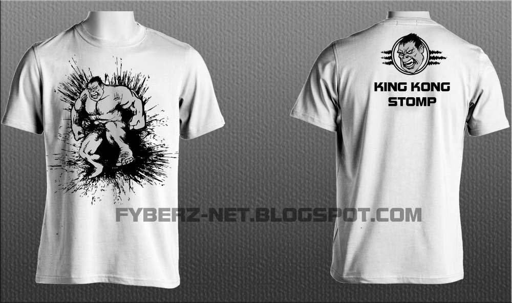 Techno Art Desain Kaos Simple