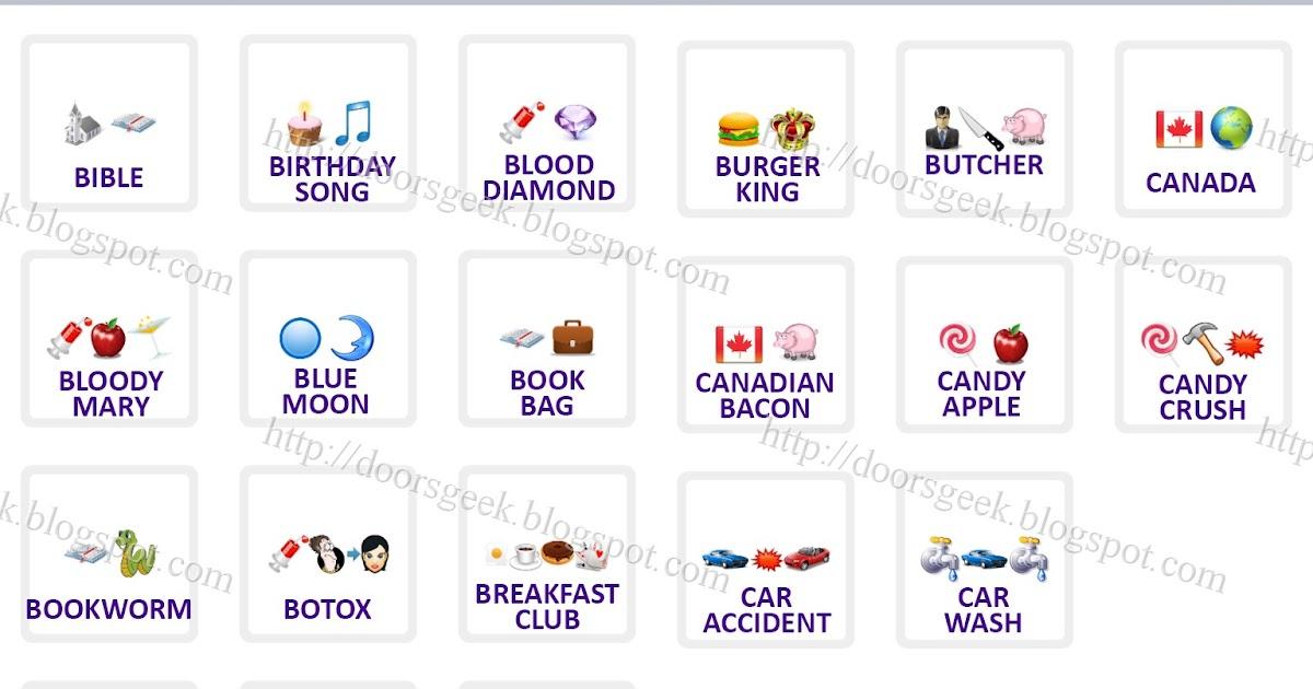 "Logo Quiz Emoji [Level 2] Answers By ""bubble Quiz Games"