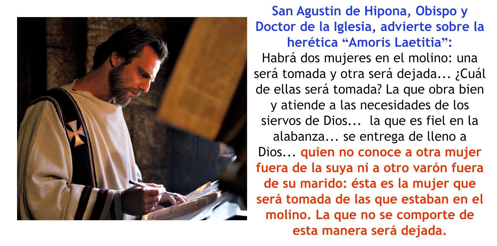 San Agustín Juzga la herética Amoris Laetitia.