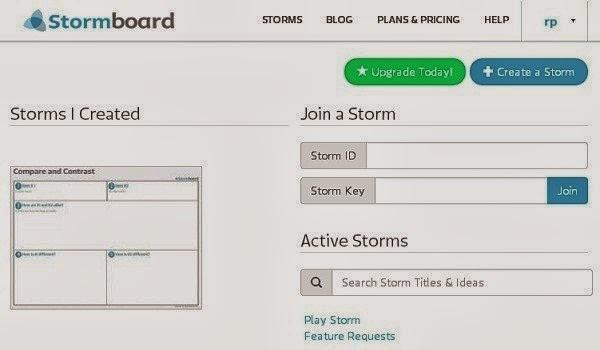 Stormboard dashboard