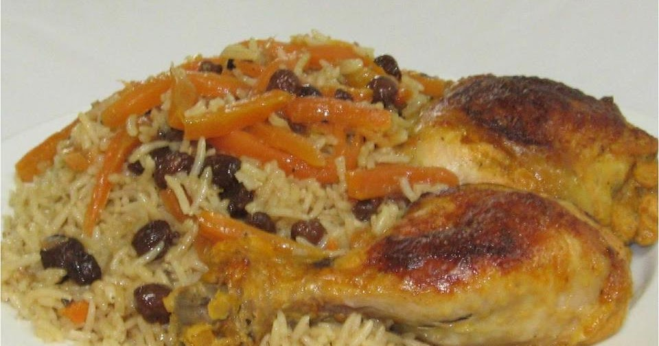 Qabili Murg Palau (Rice dish with chicken) ~ Afghan Kitchen Recipes