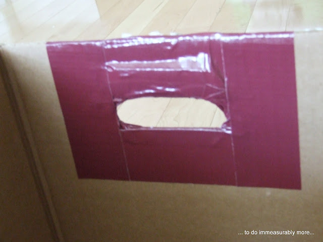 Duck Taped Handle Inside Box