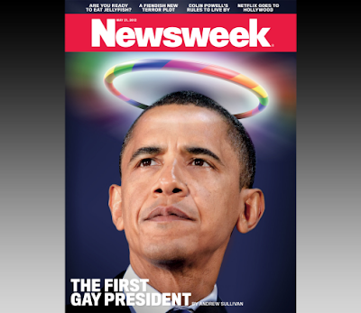Obama as black gay Jesus on Newsweek cover?