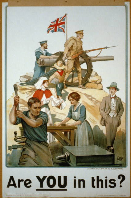 advertising, vintage, vintage posters, poster, retro prints, classic posters, free download, graphic design, war, military, Are You in This? World War One - British Vintage Military Poster