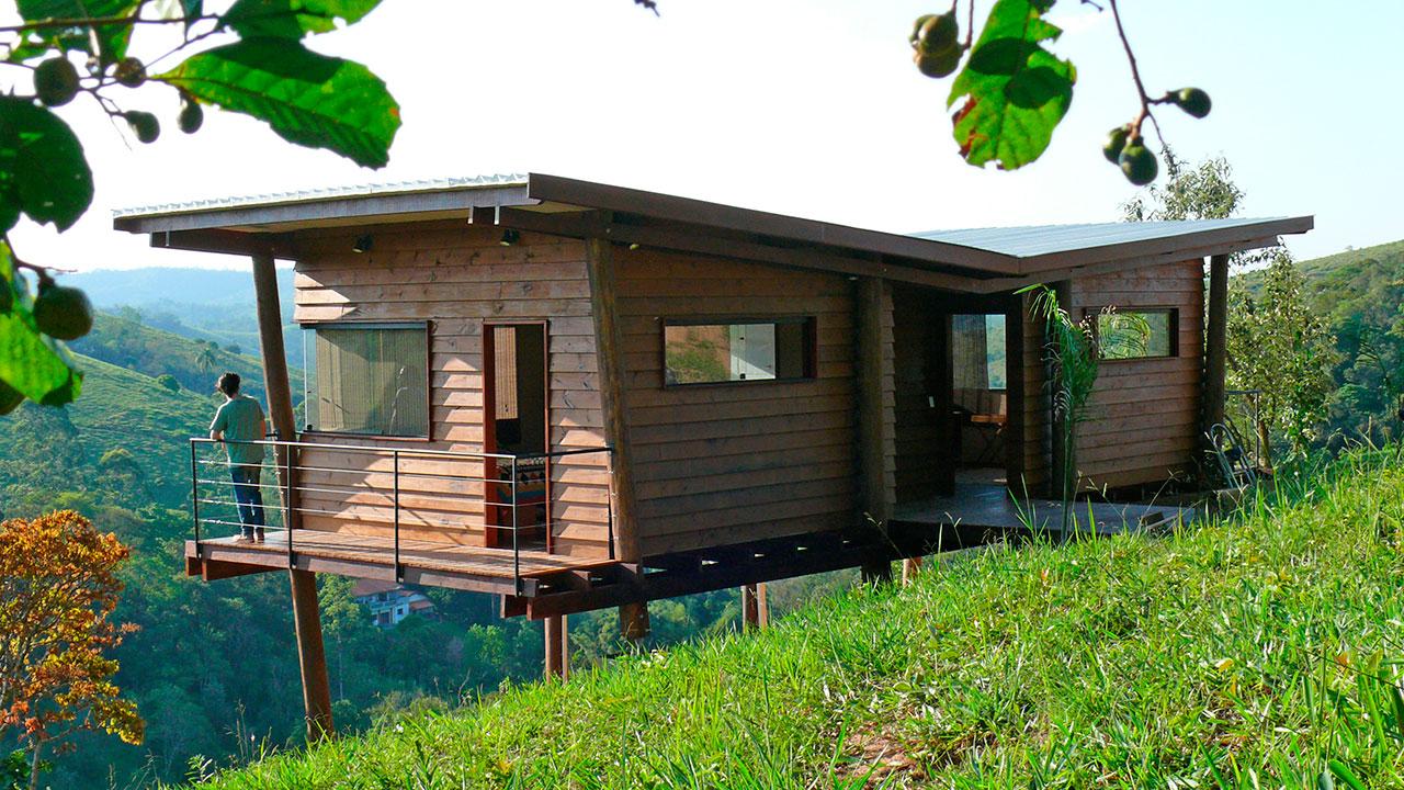 Andre eisenlohr cabana arquitetos casa em guararema for Modelos de cabanas rusticas