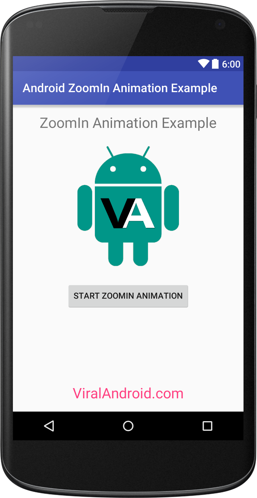 Zoom In Animation Example: How to Implement Zoom In Animation in Android