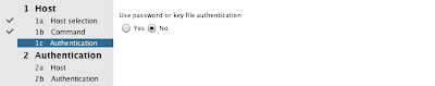 Set key file authentication