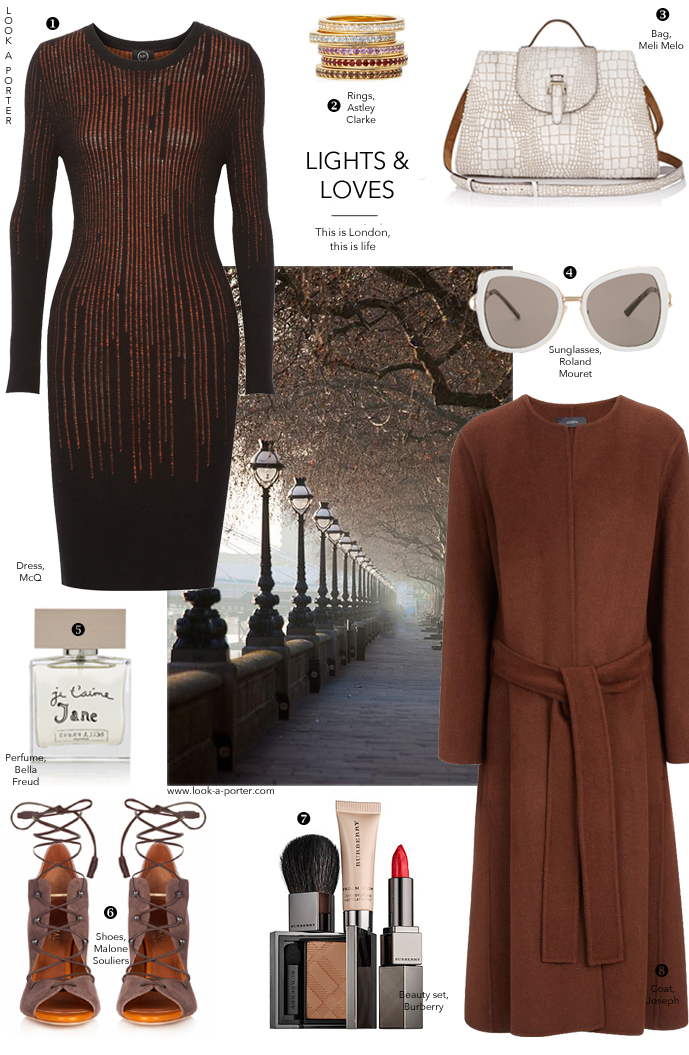 Minimalism, London-style inspired by autumn, poem and #lfw and created with McQ, Joseph, Malone Souliers, Roland Mouret and Meli Melo. Outfit inspiration, daily ideas, how to style, how to wear. Via www.look-a-porter.com style & fashion blog