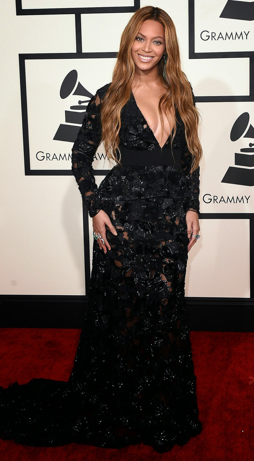 Beyonce 2015 Grammy Red Carpet Fashion